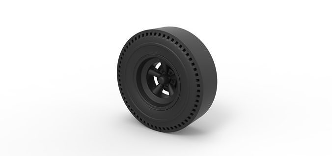 Diecast Rear wheel of old school dragster