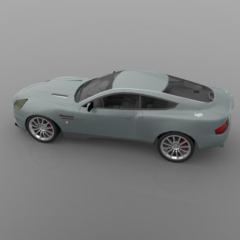 2001 Aston Martin V12 Vanquish: Aston Martin DB7 Vanquish 3D Model OBJ MTL PDF