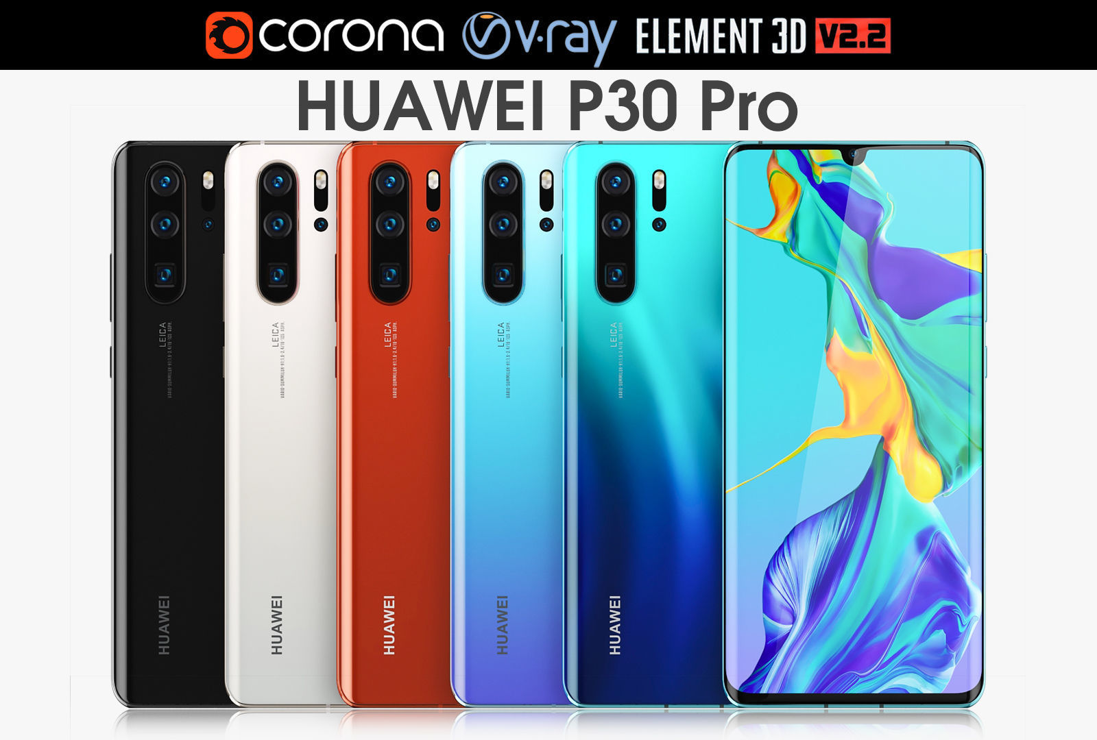 Huawei P30 Pro ALL Colors | 3D model