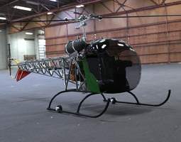 3D Bell 47G Helicopter