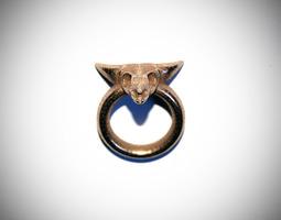 skull ring d18 3d printable model