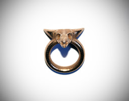 Skull Ring D18 3D Model