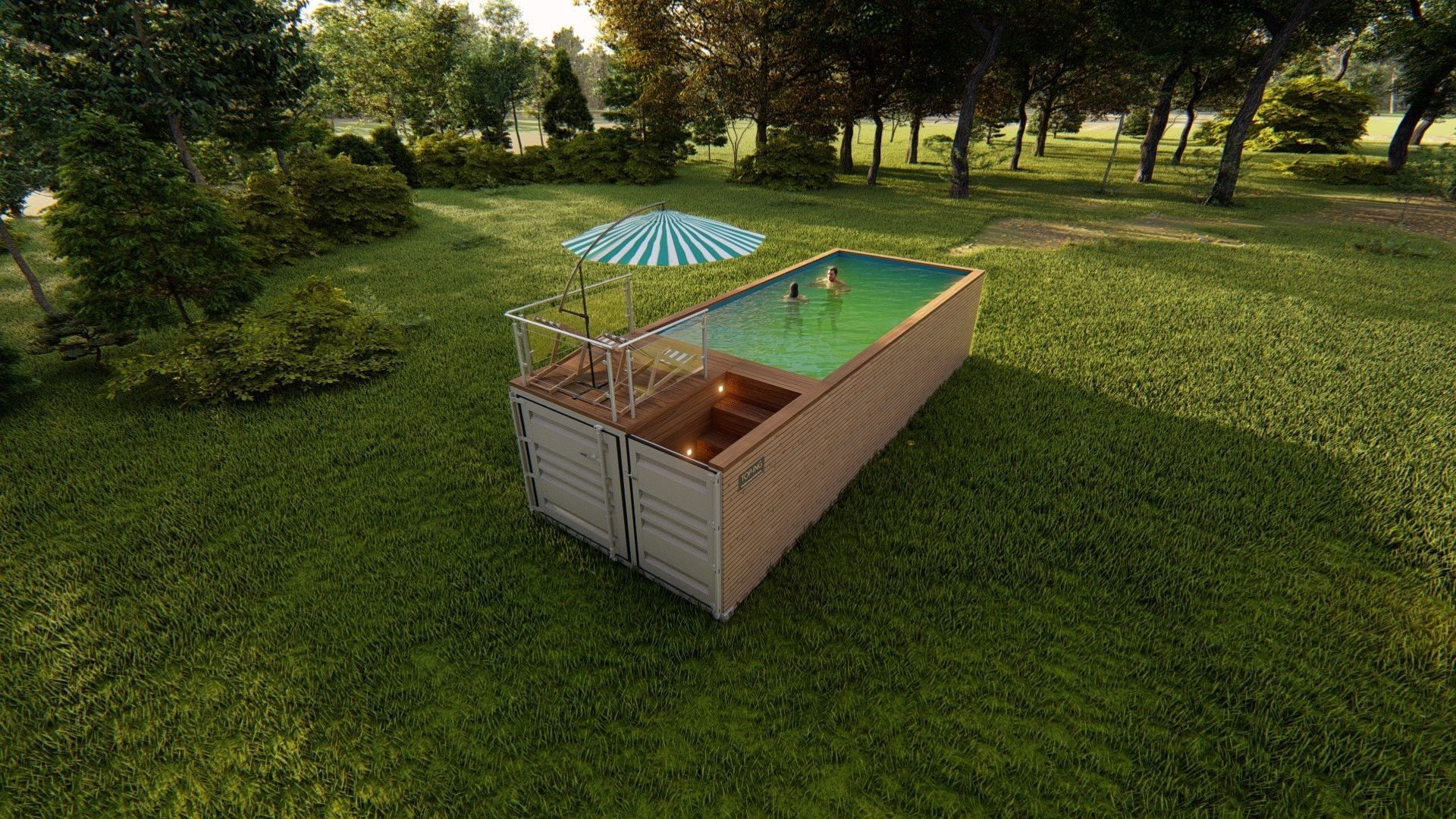 container swimming pool 3D asset | CGTrader