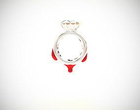 Blood Diamond Ring D18 3D print model