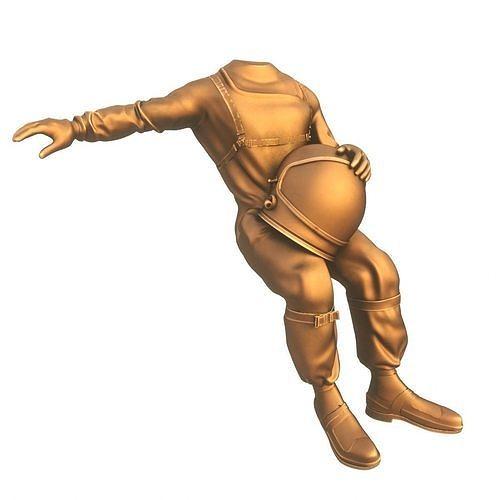 Bronze Astounaut Spacesuit pose
