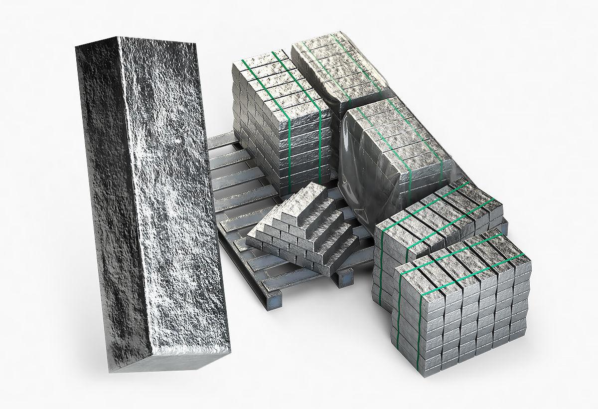 Aluminium Zinc Nickel Silver Titan Steel ingot 8