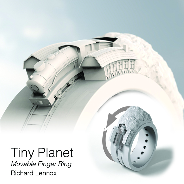 Tiny Planet Movable Finger Ring Contest Entry