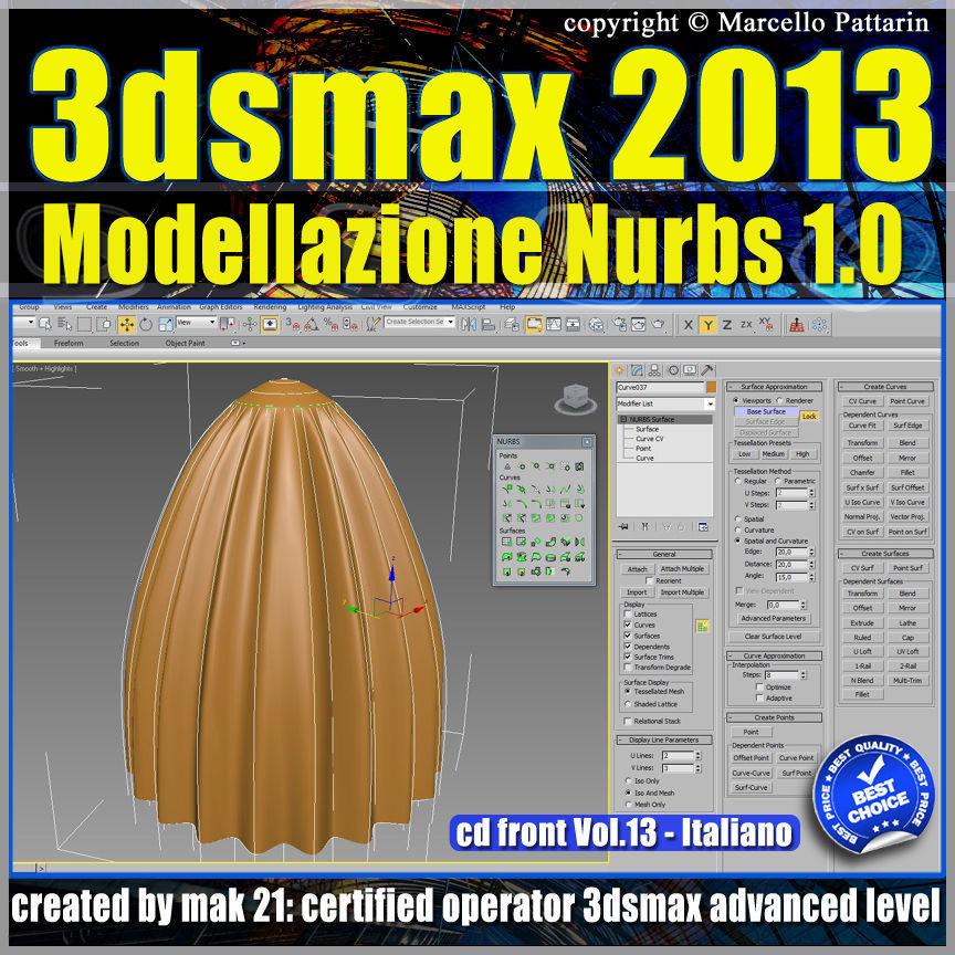 3ds max 2013 Modellazione Nurbs vol 13 cd front