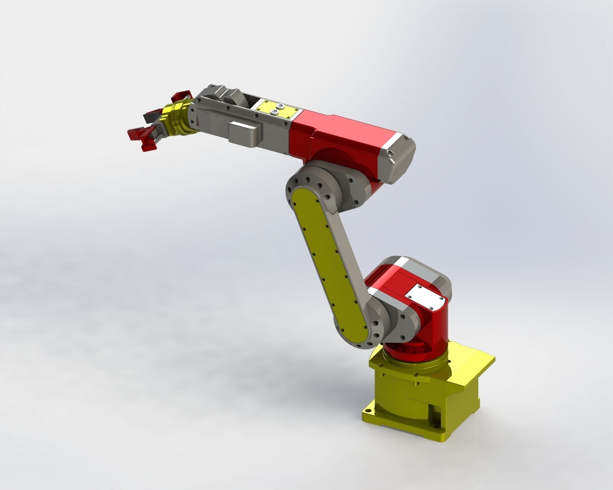 3D Solidworks Tutorial HP - Industrial Robot Arm