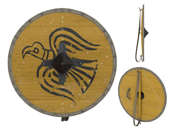 viking round shield 5 3d model max obj mtl fbx mdl 1