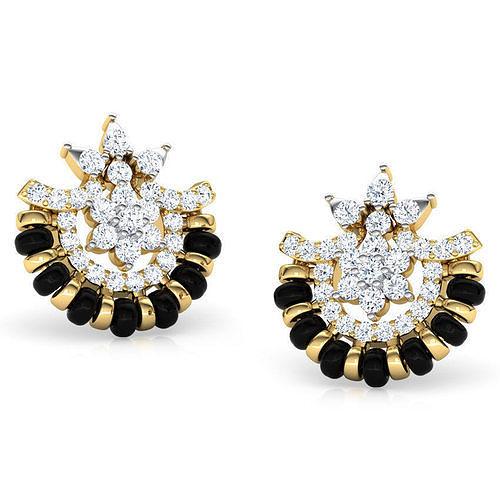 induja earrings 3d model obj mtl fbx stl 3dm ige igs iges 1