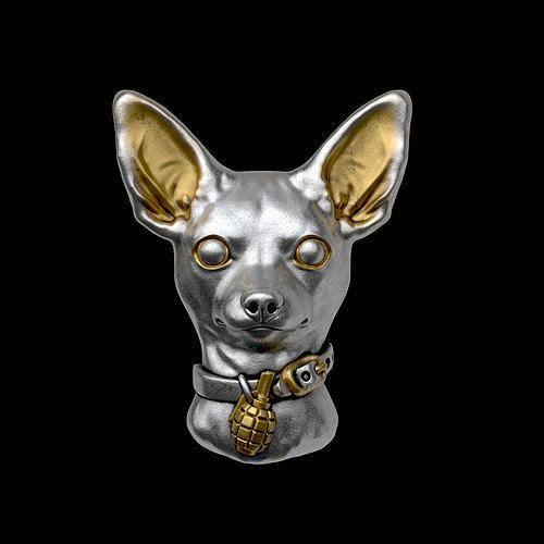 Toy terrier head