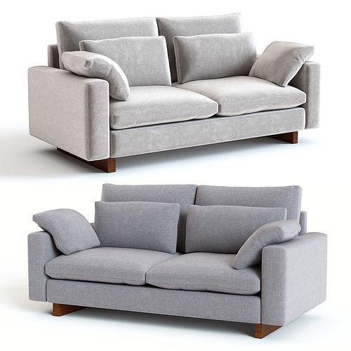 Wondrous West Elm Harmony Sofa 3D Model Machost Co Dining Chair Design Ideas Machostcouk