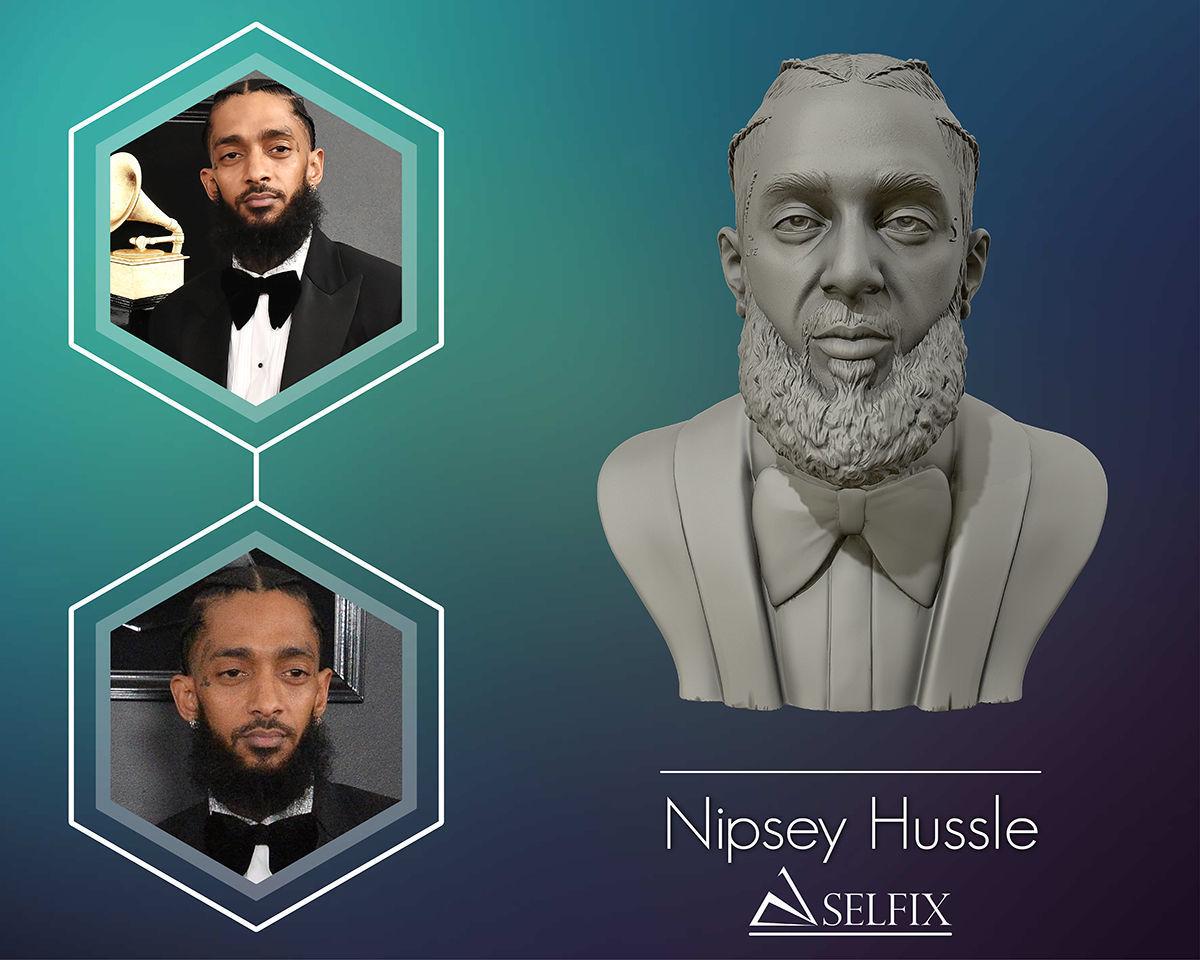 Nipsey Hussle 3D Bust Sculpture