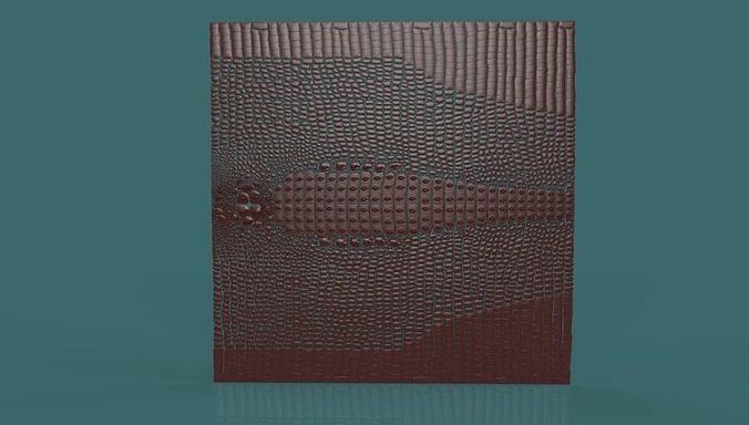 Crocodile Skin 3d stl model for cnc