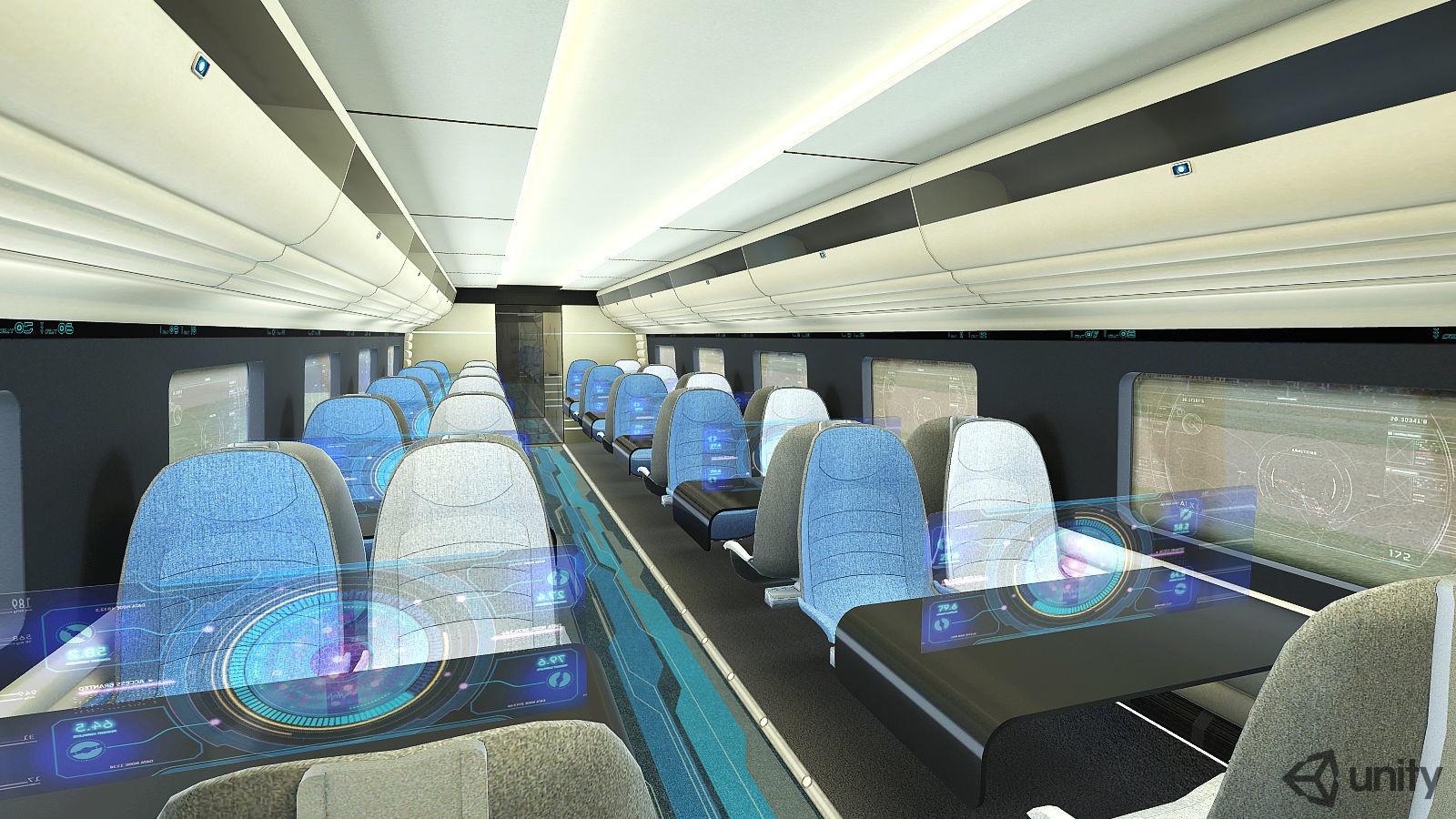 Train Interior VR AR Game Ready | 3D model