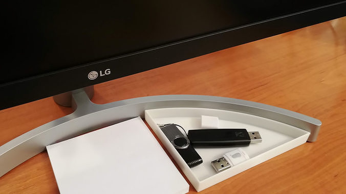 LG 29WK600 monitor stand tray