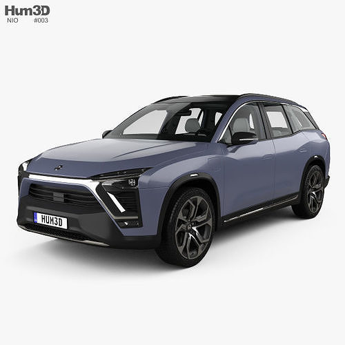 nio es8 with hq interior 2018 3d model max obj mtl 3ds fbx c4d lwo lw lws 1