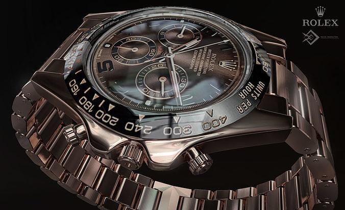 rolex watch 3d model max fbx dxf 1