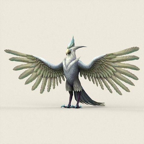 fantasy monster eagle 3d model low-poly max obj mtl fbx c4d ma mb 1