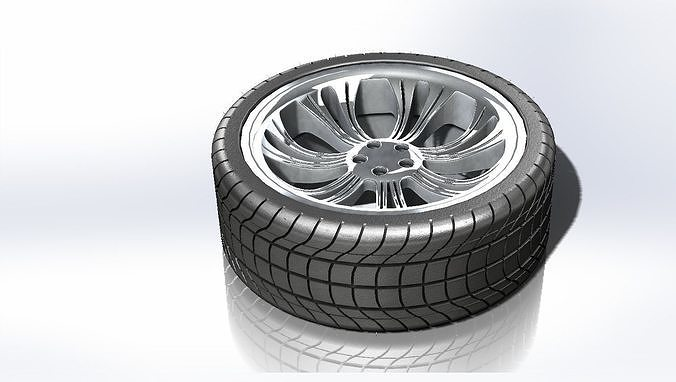 alloy wheel 1 3d model stl ige igs iges 3mf 1