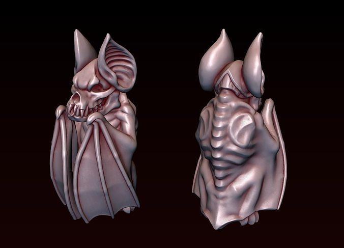 Gothic Bat Statue