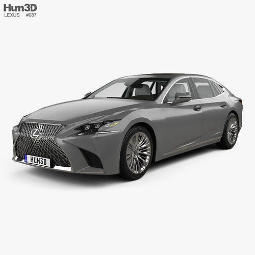 lexus ls xf50 with hq interior 2017 3d model max obj mtl 3ds fbx c4d lwo lw lws 1