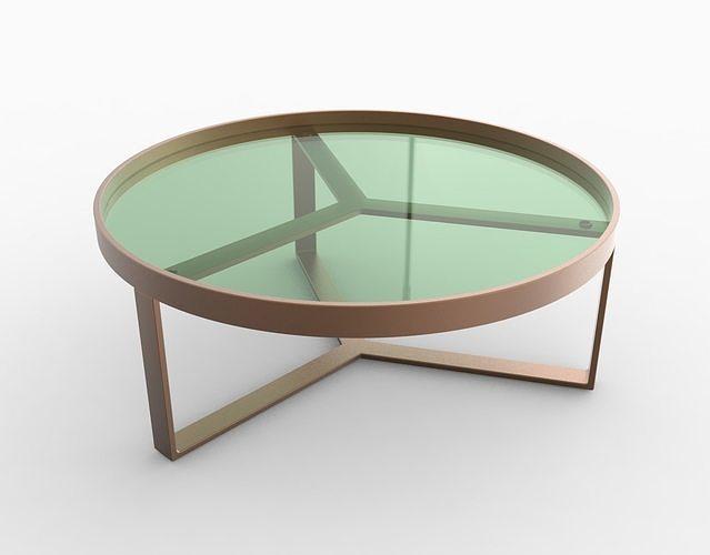 aula coffee table 3d model obj mtl 3ds 3dm stp bip ksp 1