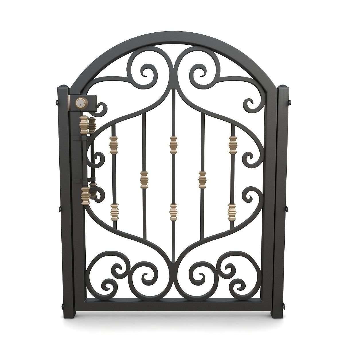 Wrought iron gate 01