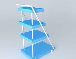 trolley for medicenes 3d model max obj 3ds fbx stl dae