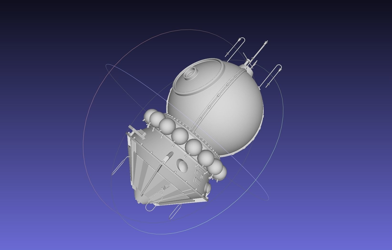 Basic Vostok 1 Vostok 3KA Space Capsule Printable Model