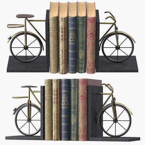 bicycle book ends 3d model max obj mtl fbx 1