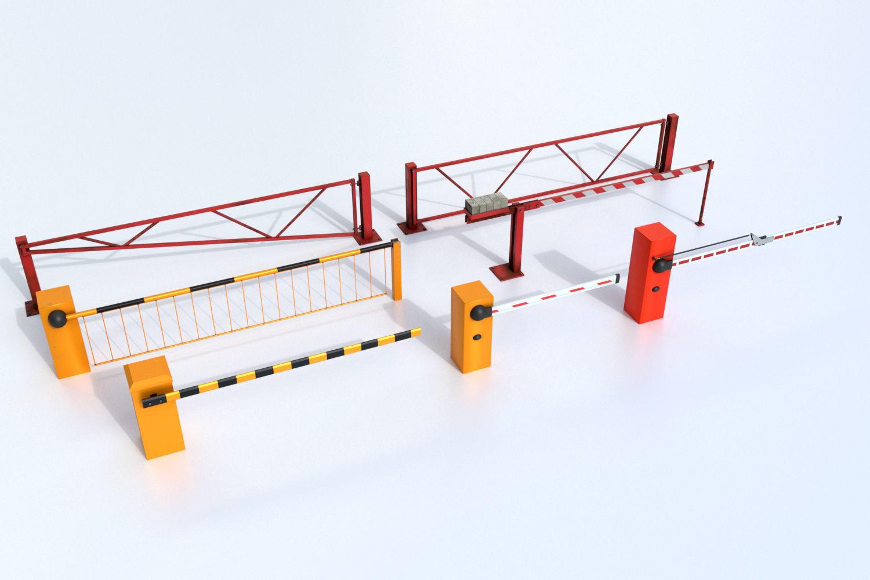 Boom Barrier Gates Urban Equipment Set   3D model