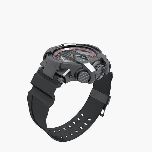 sports watch 3d model max fbx 1