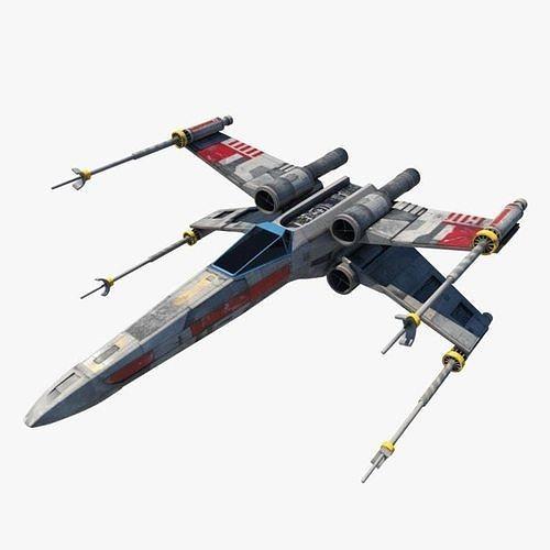 starwars x-wing aeroplane  3d model max obj mtl 3ds fbx ma mb 1