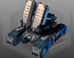 SciFi Tank Radar - MK8 3D Model