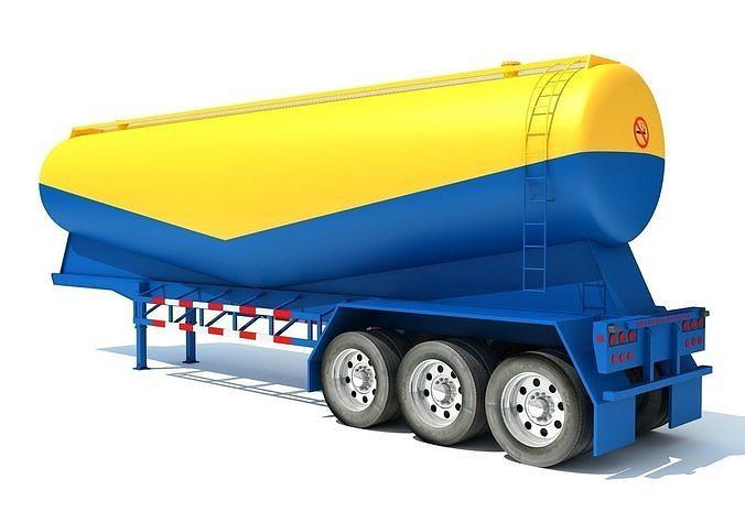 tanker trailer 3d model max obj mtl 3ds c4d lwo lw lws ma mb 1
