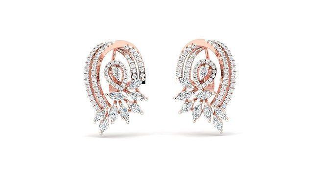 Women earrings 3dm stl render detail 3D print model