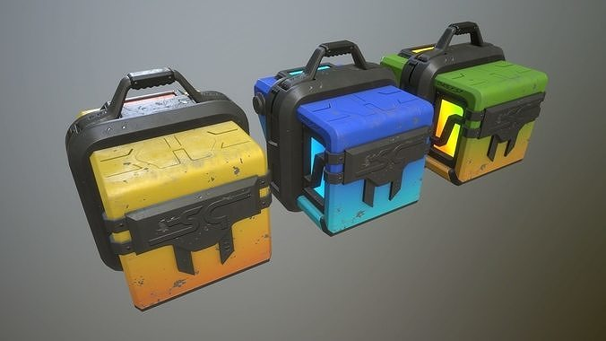 sci-fi crates 3d model obj mtl 3ds fbx stl dae 1