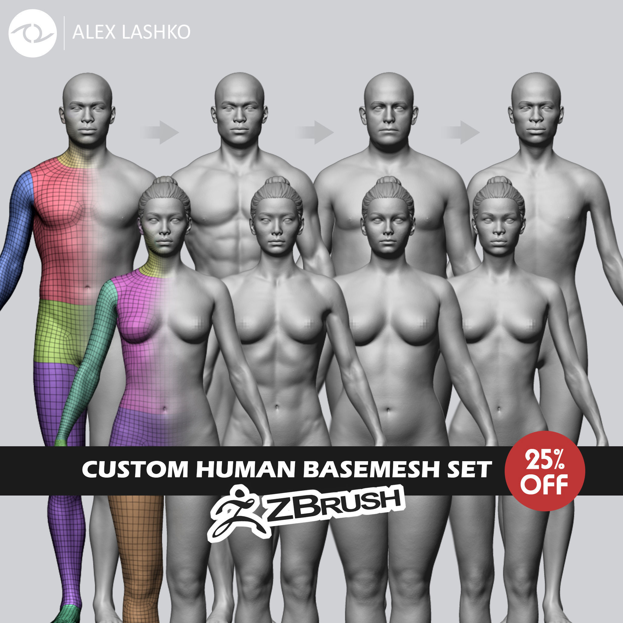 Custom Human Basemesh Set