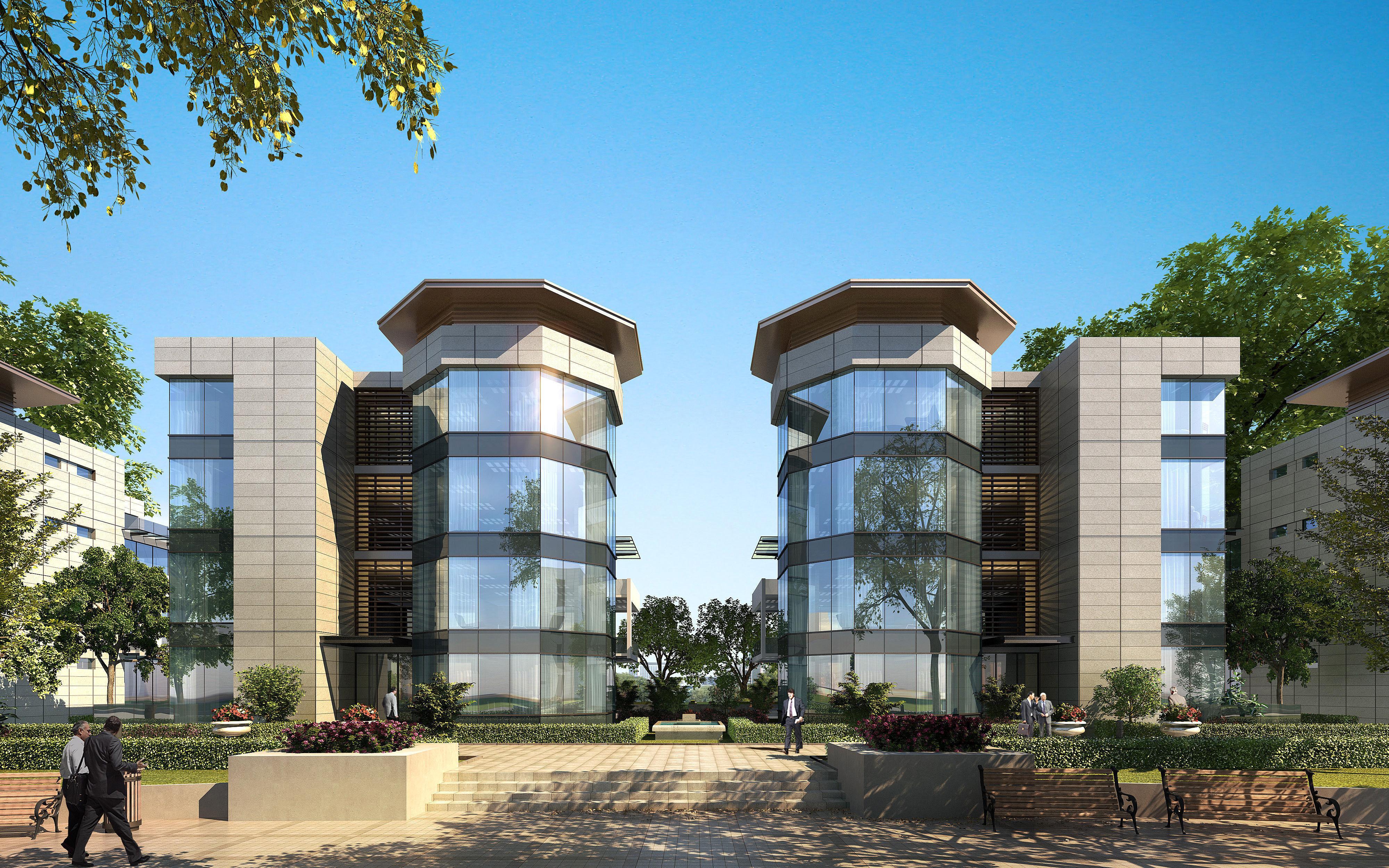 City luxury hotel villa design office 33 3d model max for City hotel design