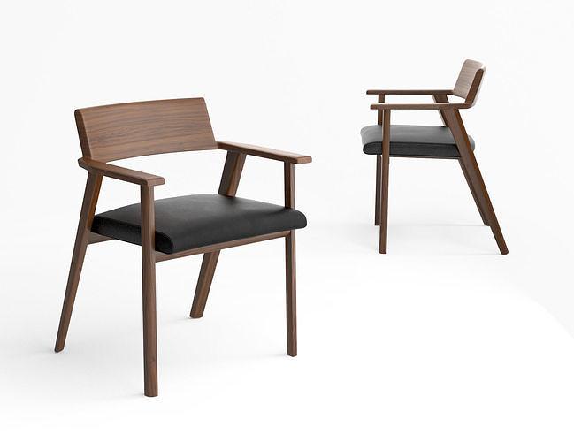bassam fellows wedge side chair 3d model max obj mtl tga 1