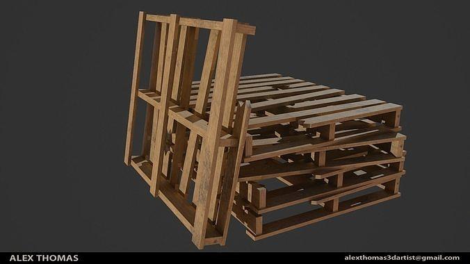 wooden pallet 3d model obj mtl fbx ma mb 1