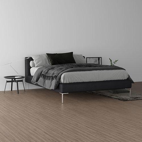 charles bed  3d model max obj mtl 3ds fbx dwg mat 1