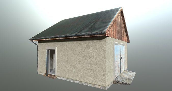 garage 3d model obj mtl 3ds fbx dxf blend 1
