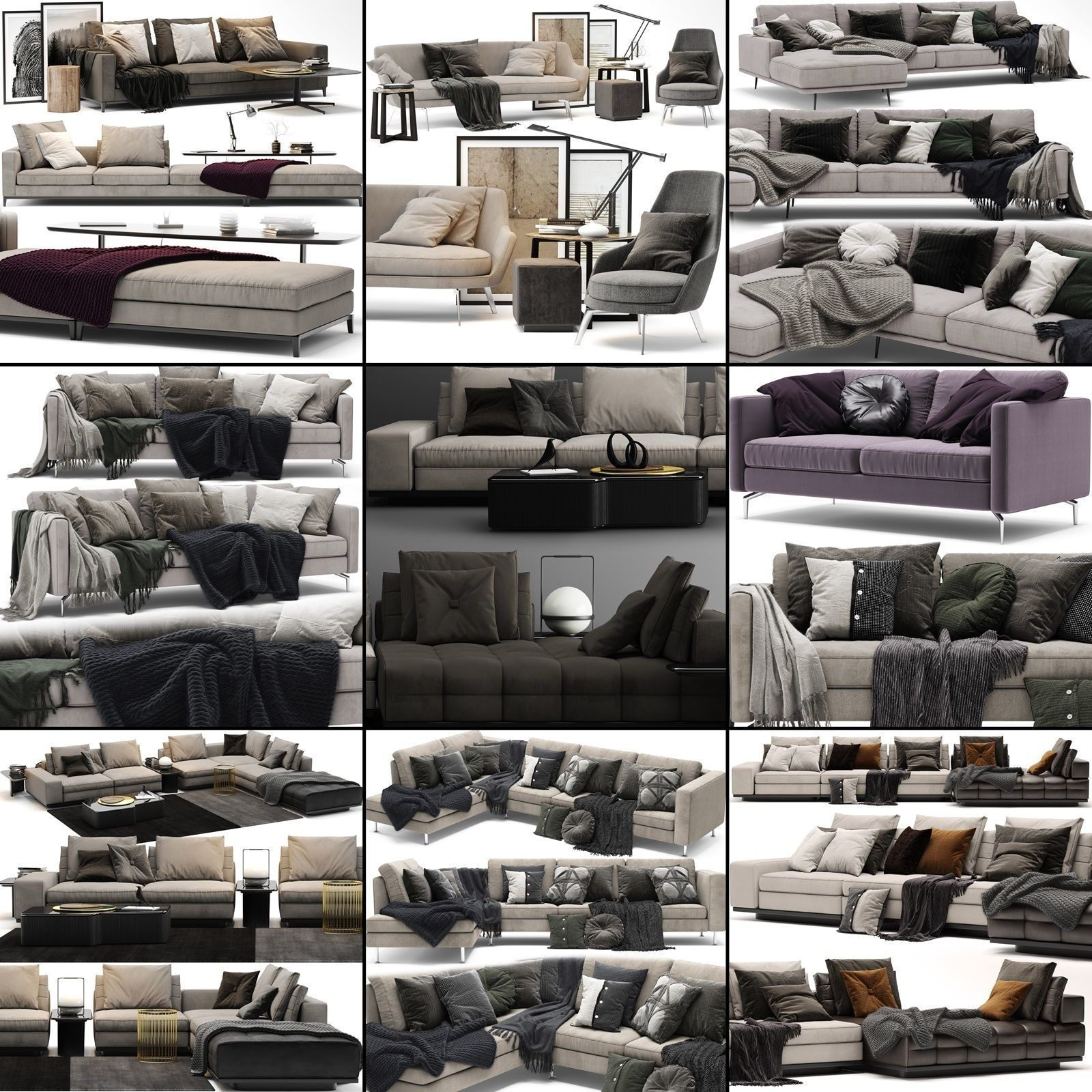 Sofa Collection 02 - 10 Items