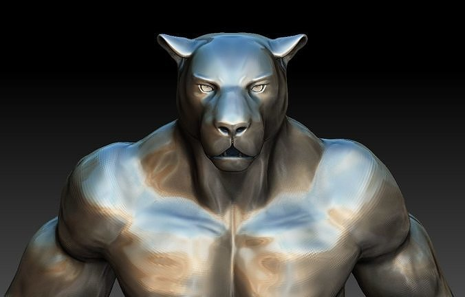 Panther character for 3d printing