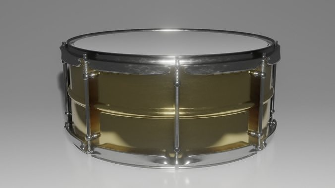 snare drum 3d model obj mtl fbx stl blend dae ply 1