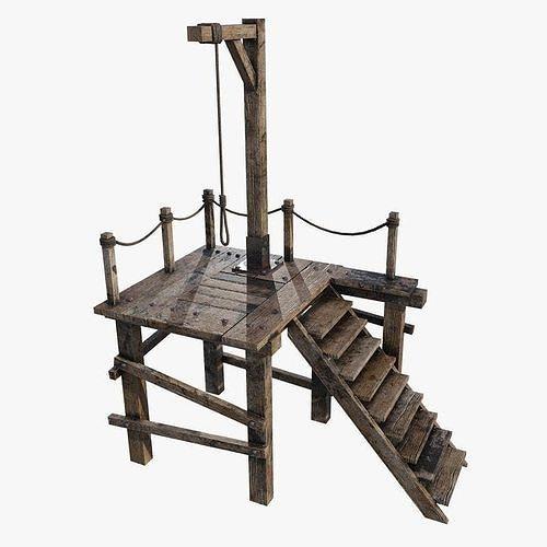 gallows 1 3d model max obj mtl fbx 1