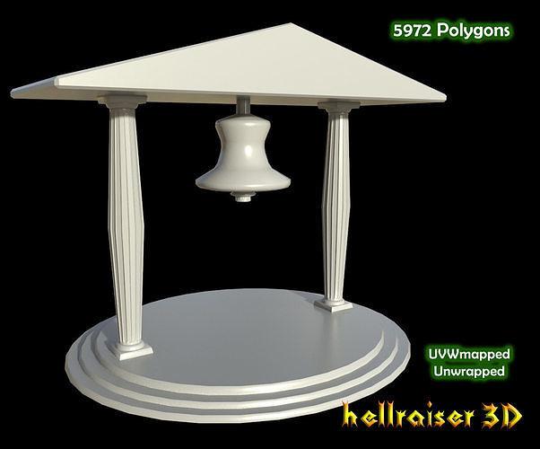 temple bell 3d model obj mtl fbx 1